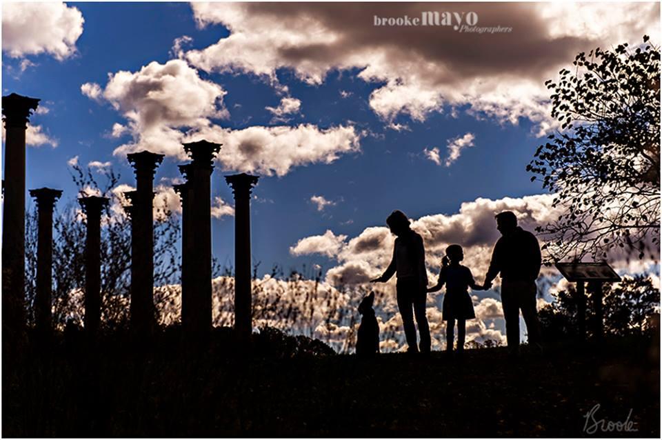 Family Portrait Arboretum Silhouette
