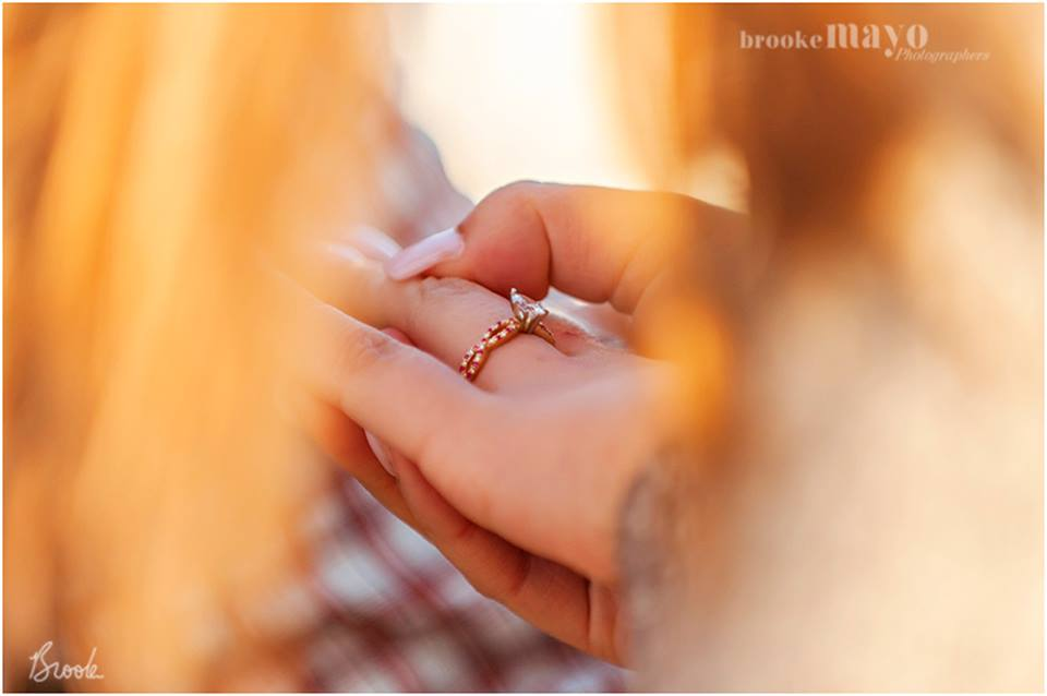 engagement ring outer banks proposal