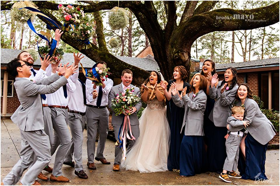 Garber Methodist Church Bridal Party