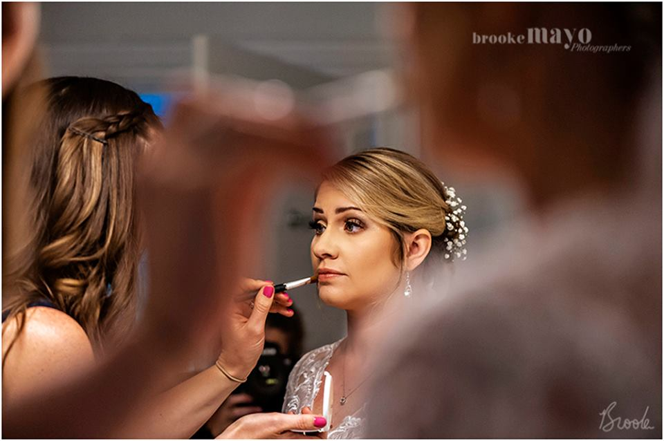 bride getting ready virginia beach wedding