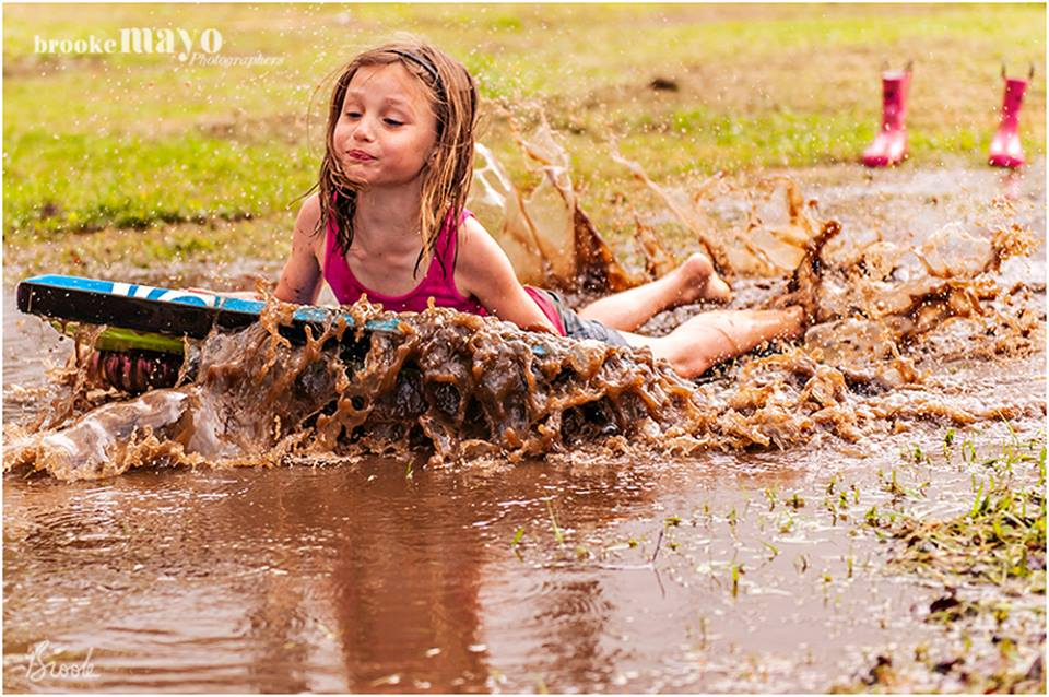 playing in the mud
