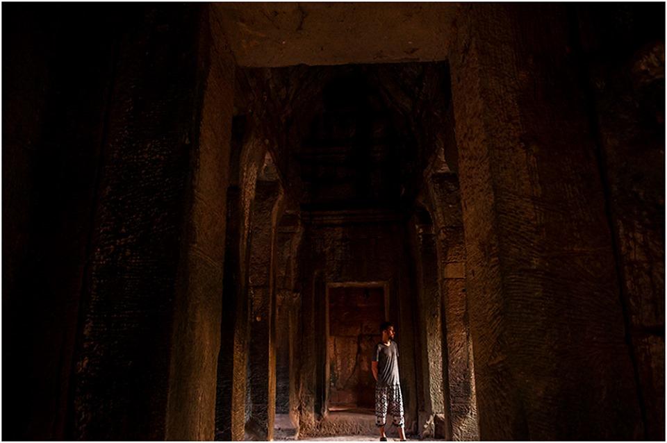 Angkor wat temple morning light