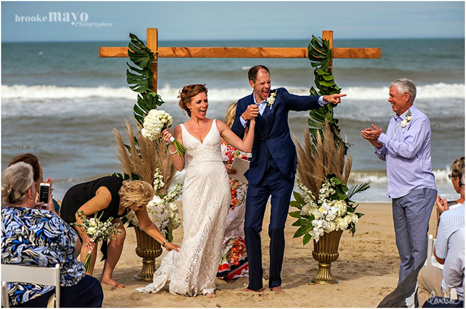 Duck, NC beach wedding