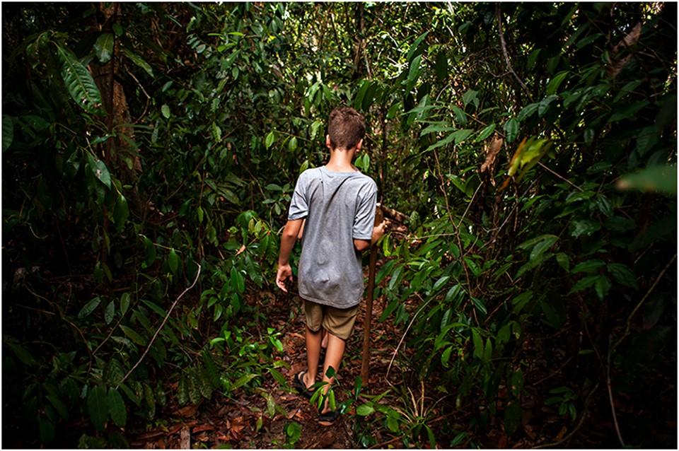 Cambodian jungle hike