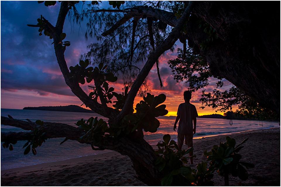 cambodian beach sunset
