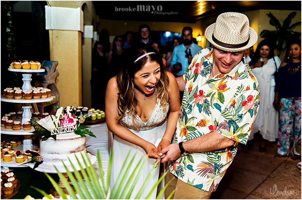 cake cutting OBX wedding