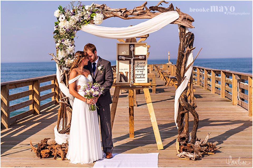 Kitty Hawk Pier HIlton Garden Inn Wedding