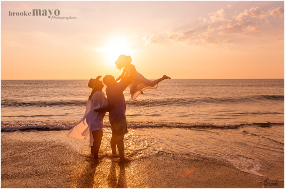 beach sunrise OBX portraits