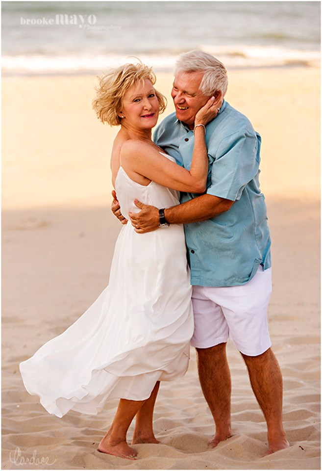 50th wedding anniversary beach portraits