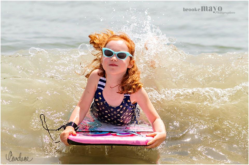 splash portraits at the Sanderling Resort