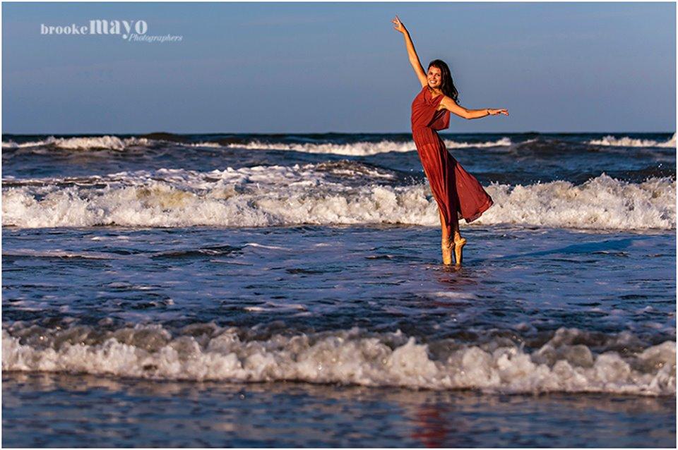 Dancer on beach