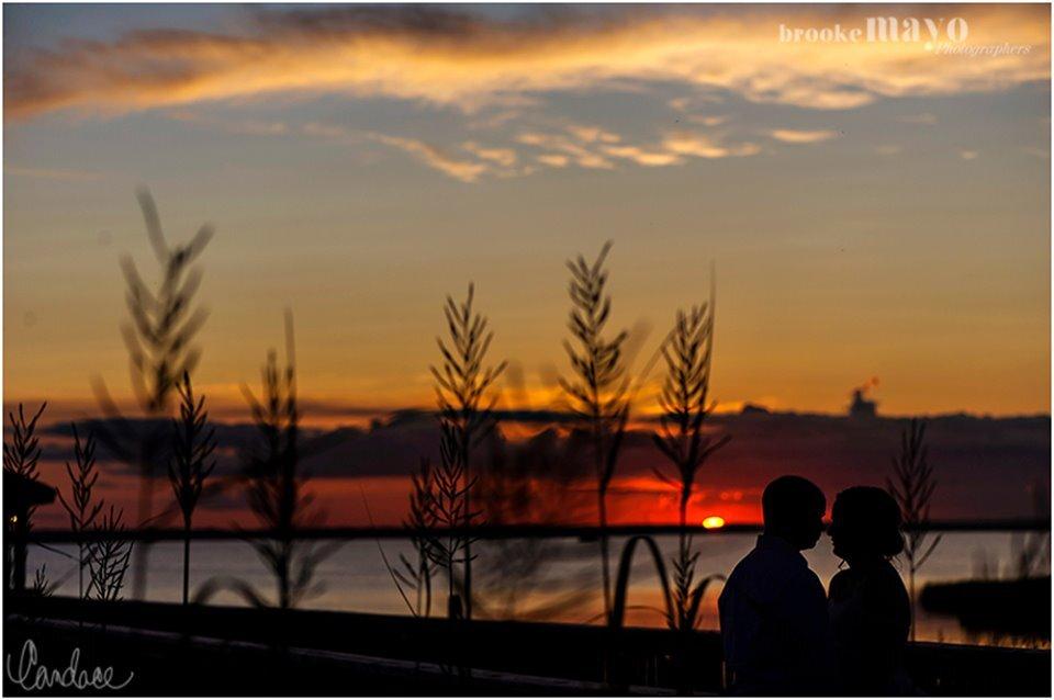 sunset at the Sanderling