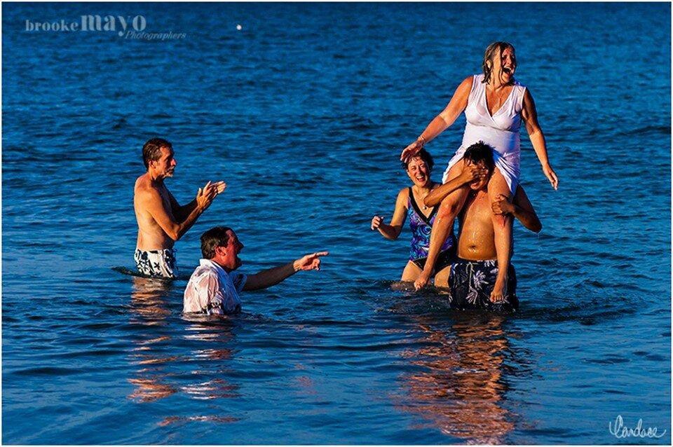 Fun OBX beach wedding Avalon pier