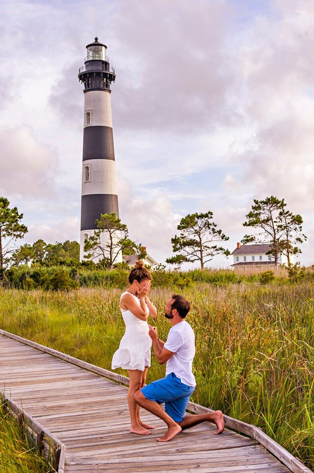 Bodie Island Surprise Proposal