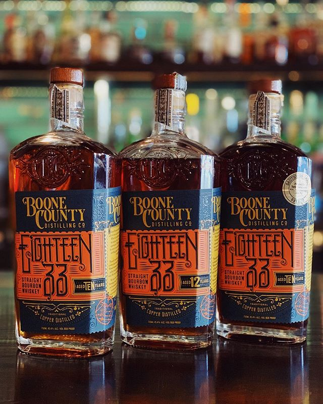 This Whiskey Wednesday we're doing a flight of Boone County Bourbon. Today only, you can get a 1 oz flight of Boone County 10 Year, 12 Year and 10 Year Sauternes Finish for $22