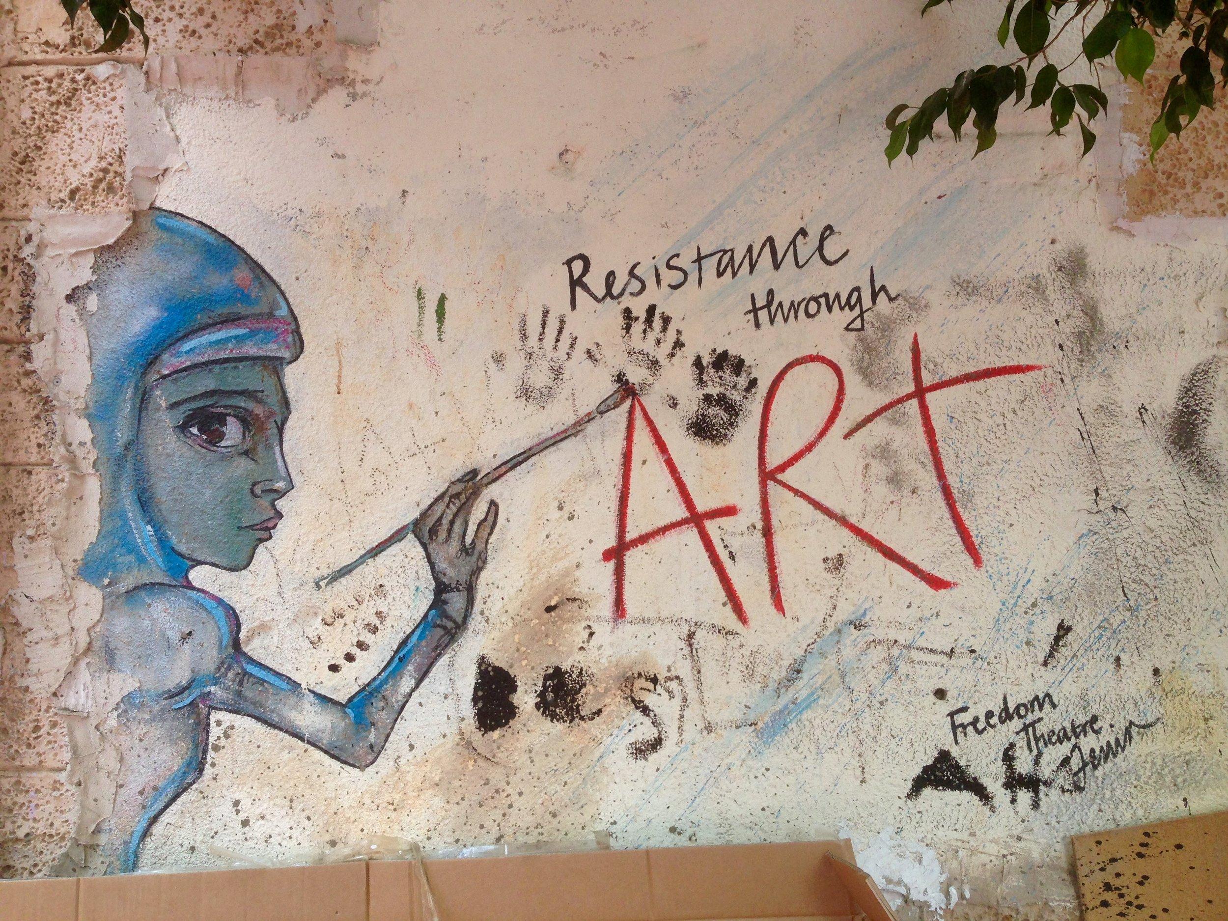 Resistance Through Art, Freedom Theatre, Jenin Refugee Camp, Palestine