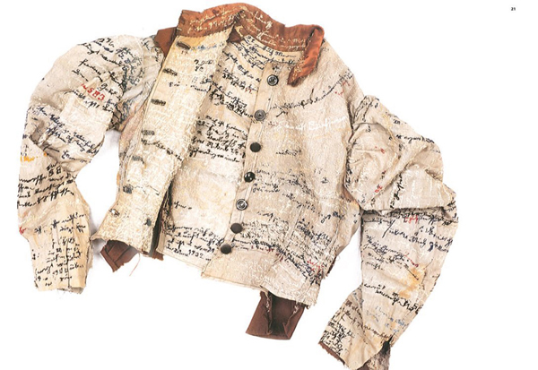 German seamstress Agnes Richter (1844–1918) was a patient at the Heidelberg Psychiatric Clinic during the 1890s. While held at the asylum she would densely embroiderher standard issue straitjacket. -