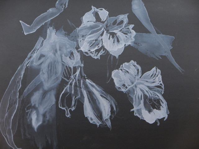 Gouache on carbide paper, Sue Hunt.