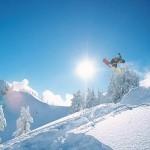 Snowboarding on Mount Baker