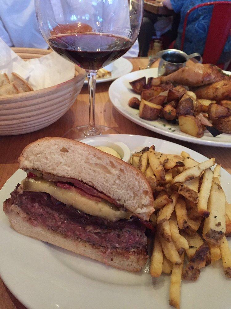 """Le Burger"" at Le Comptoir, San Rafael CA."