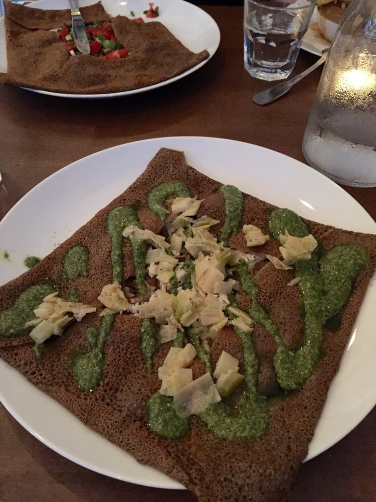 Savory galettes at Brittany Crepes, Berkeley CA