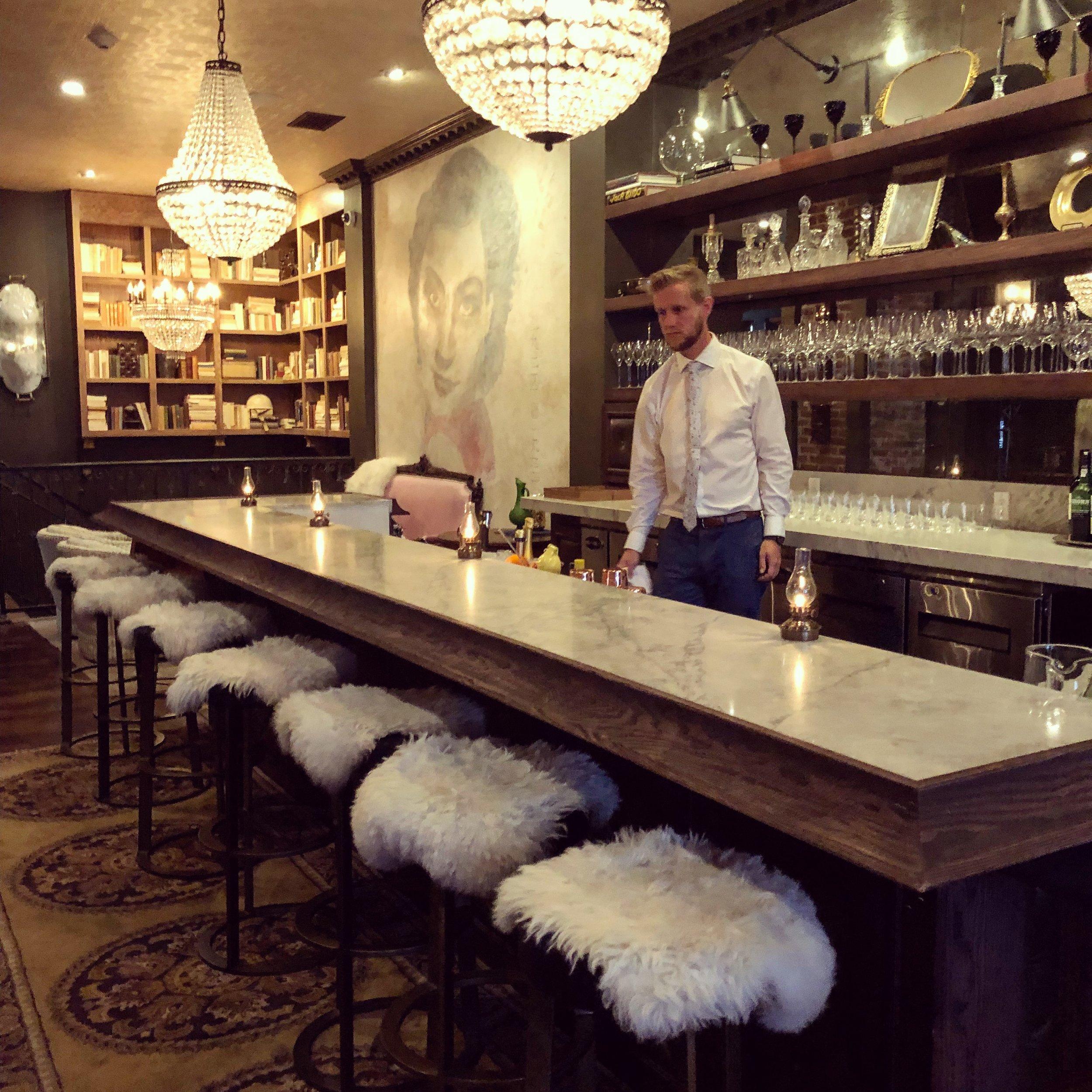 Plush seating at Bar Crenn in San Francisco
