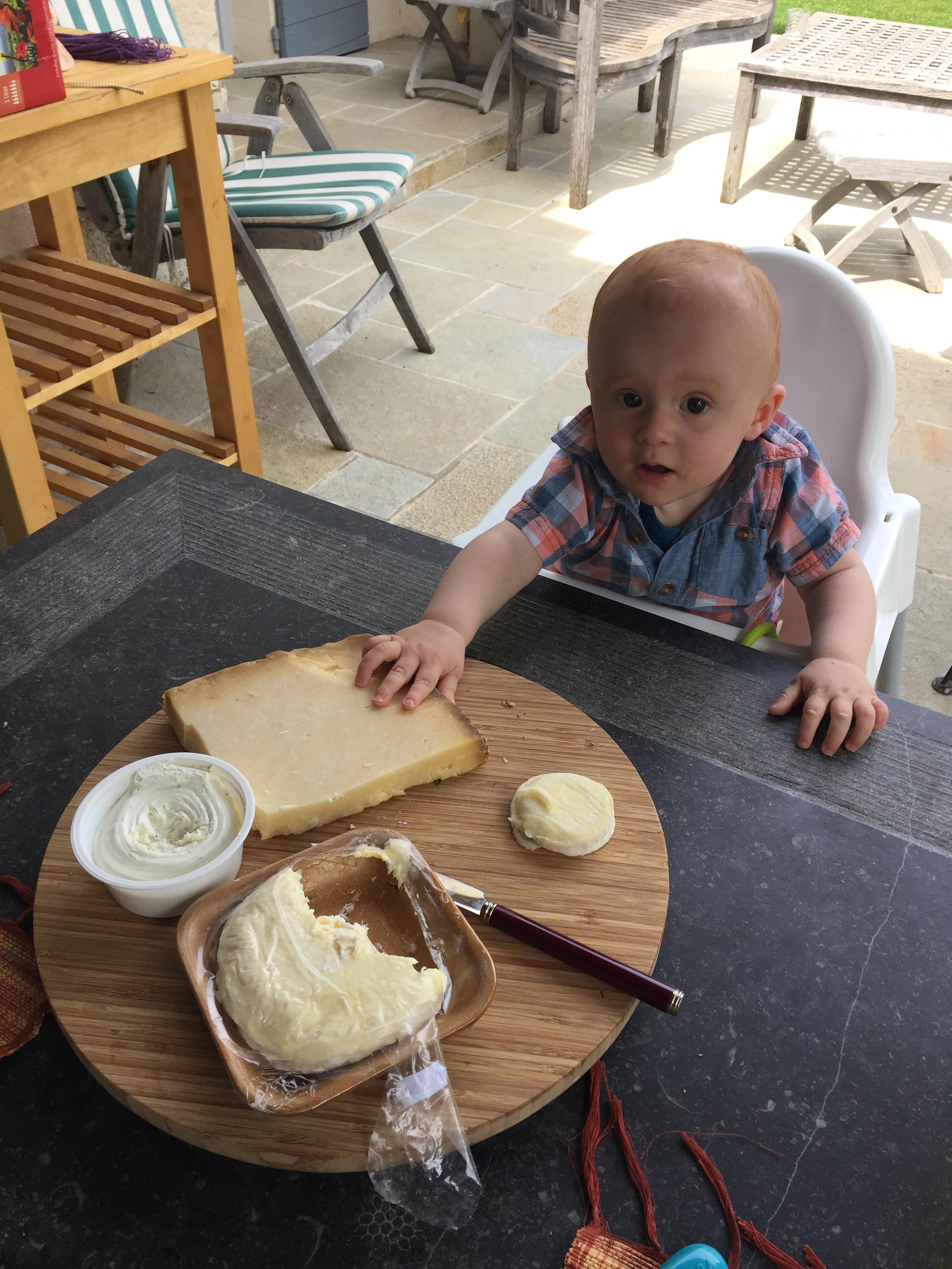 Emile appreciating the local cuisine.