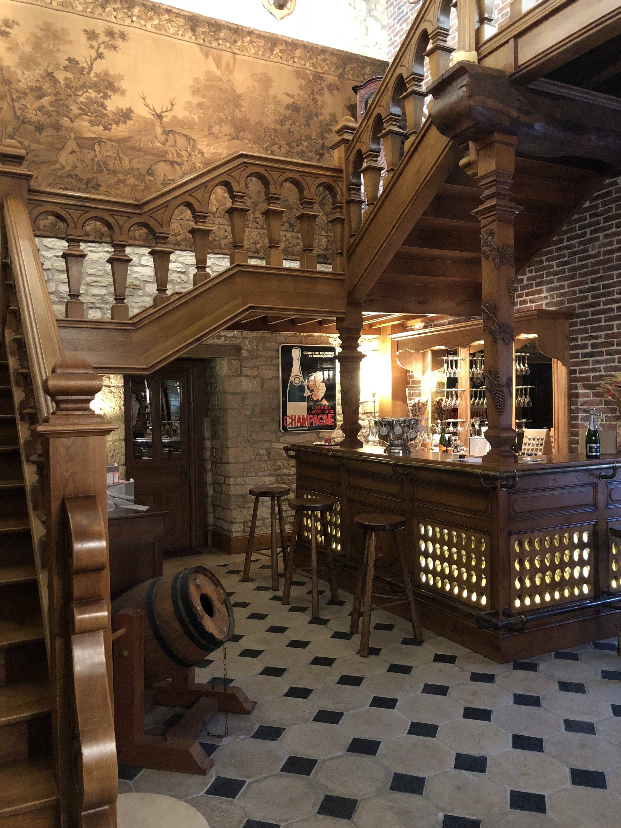 Historic tasting room at Champagne Bartnicki