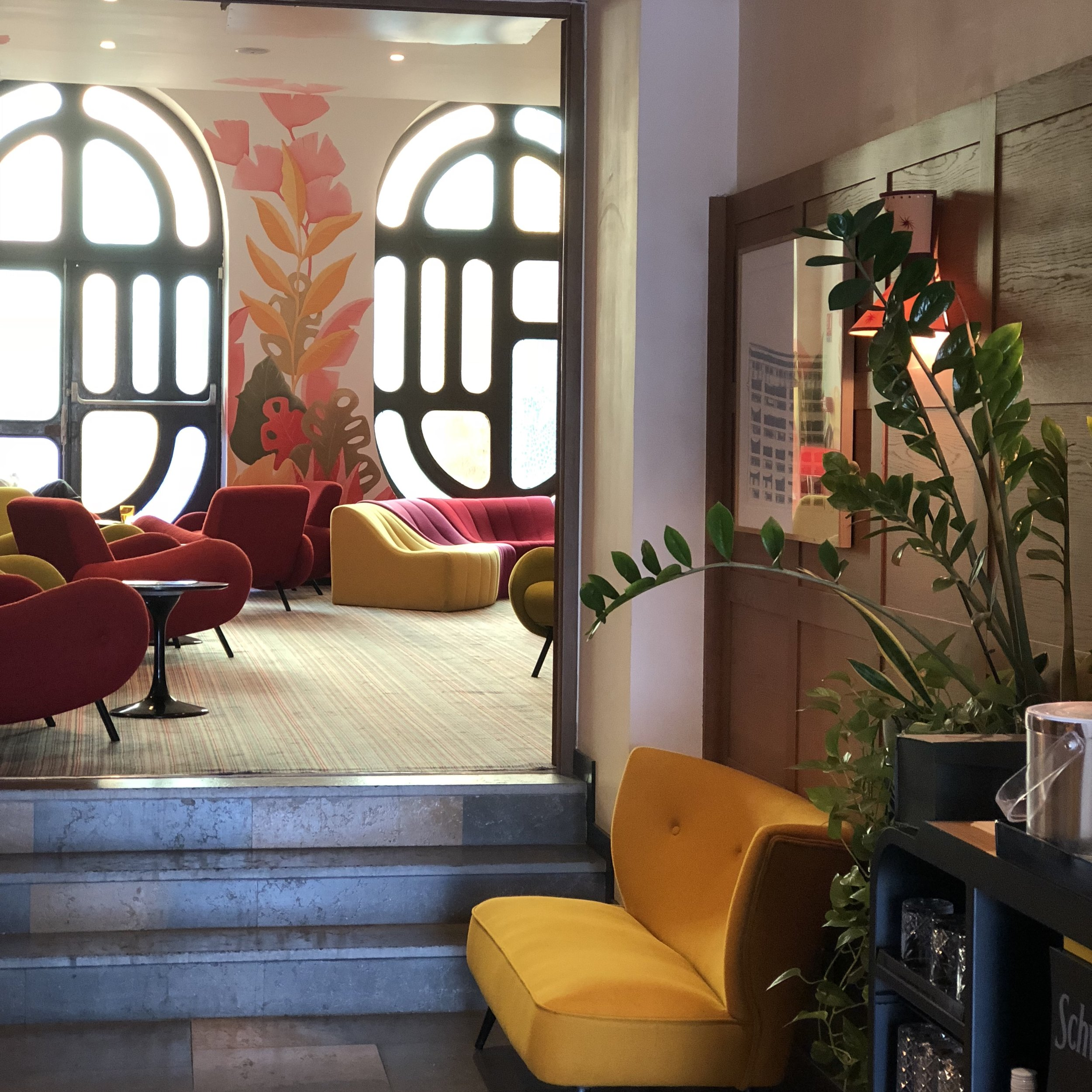 Stylish lobby at Hotel La Residence du Vieux Port in Marseille