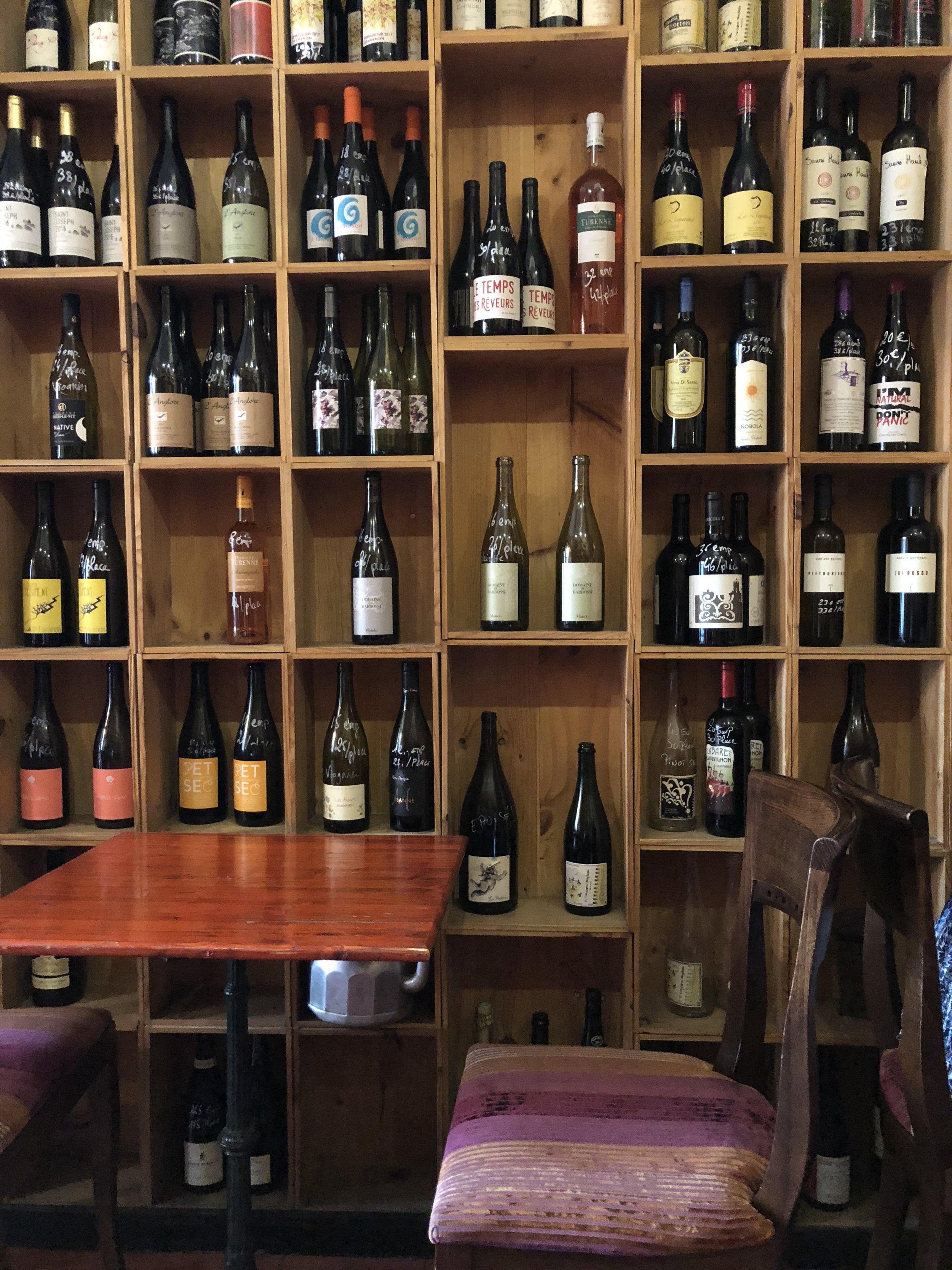 Les Buvards, natural wine bar