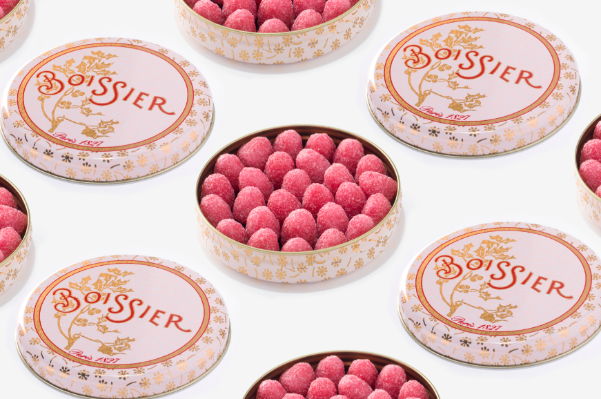 Tinned candies from Boissiere Paris. Photo from their Facebook page.