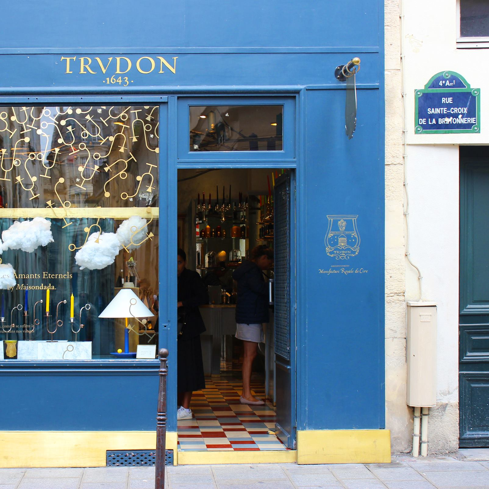 Cire Trudon's boutique in Le Marais. Photo from their Facebook page.