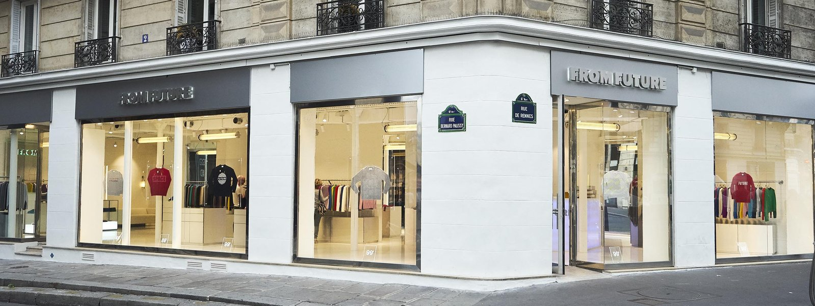 The From Future flagship store at 54 Rue de Rennes Paris 75006