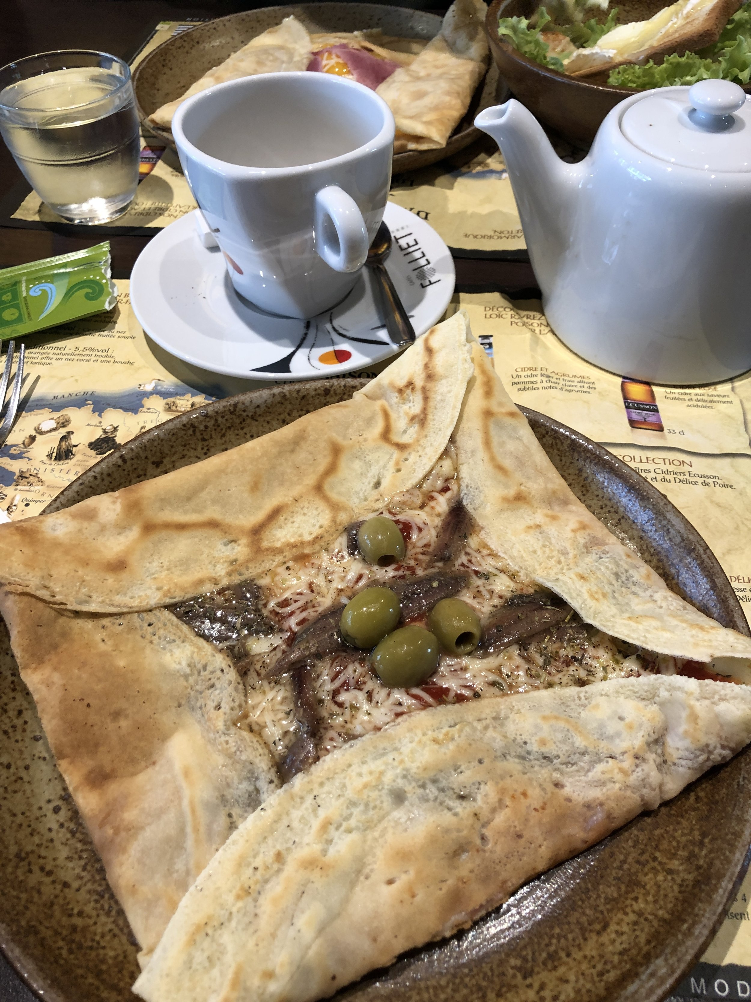 """""""Pizza-style"""" crepe at Joly Patricia in Bar sur Seine"""