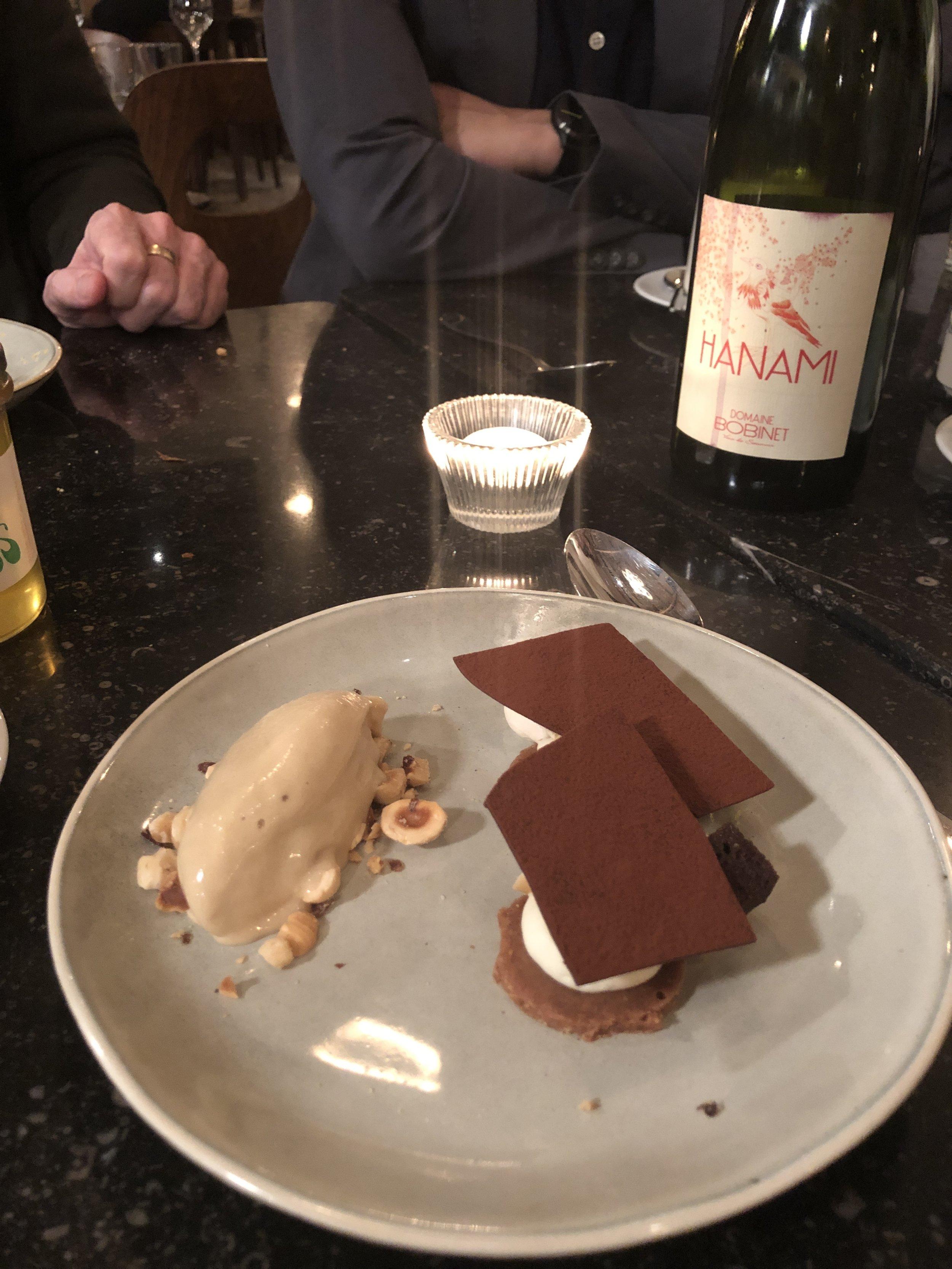 Dessert at Le Garde Champetre in Gye-sur-Seine