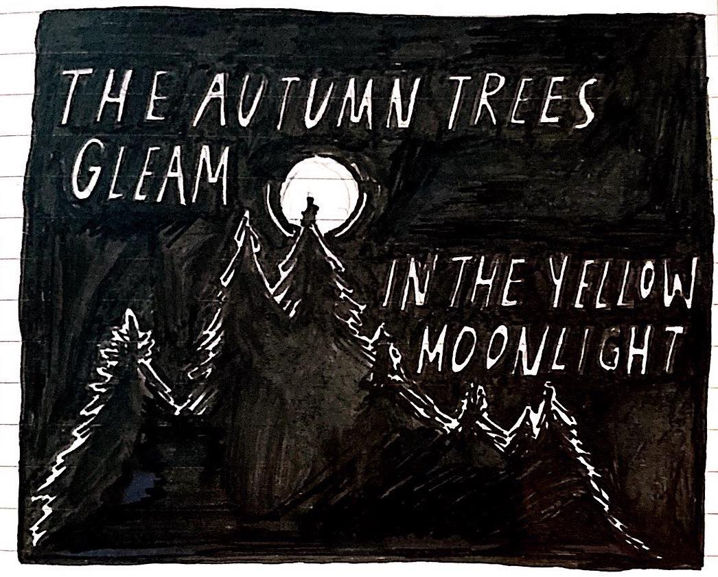 Illustration by  Rachel Tay , featuring a passage from Virginia Woolf's  To the Lighthouse , as quoted in Eliza's ' Ode to Autumn ' last year.