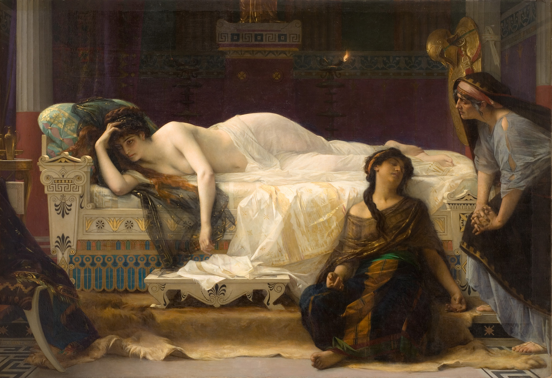 Painting by Alexandre Cabanel. Phèdre. 1880.