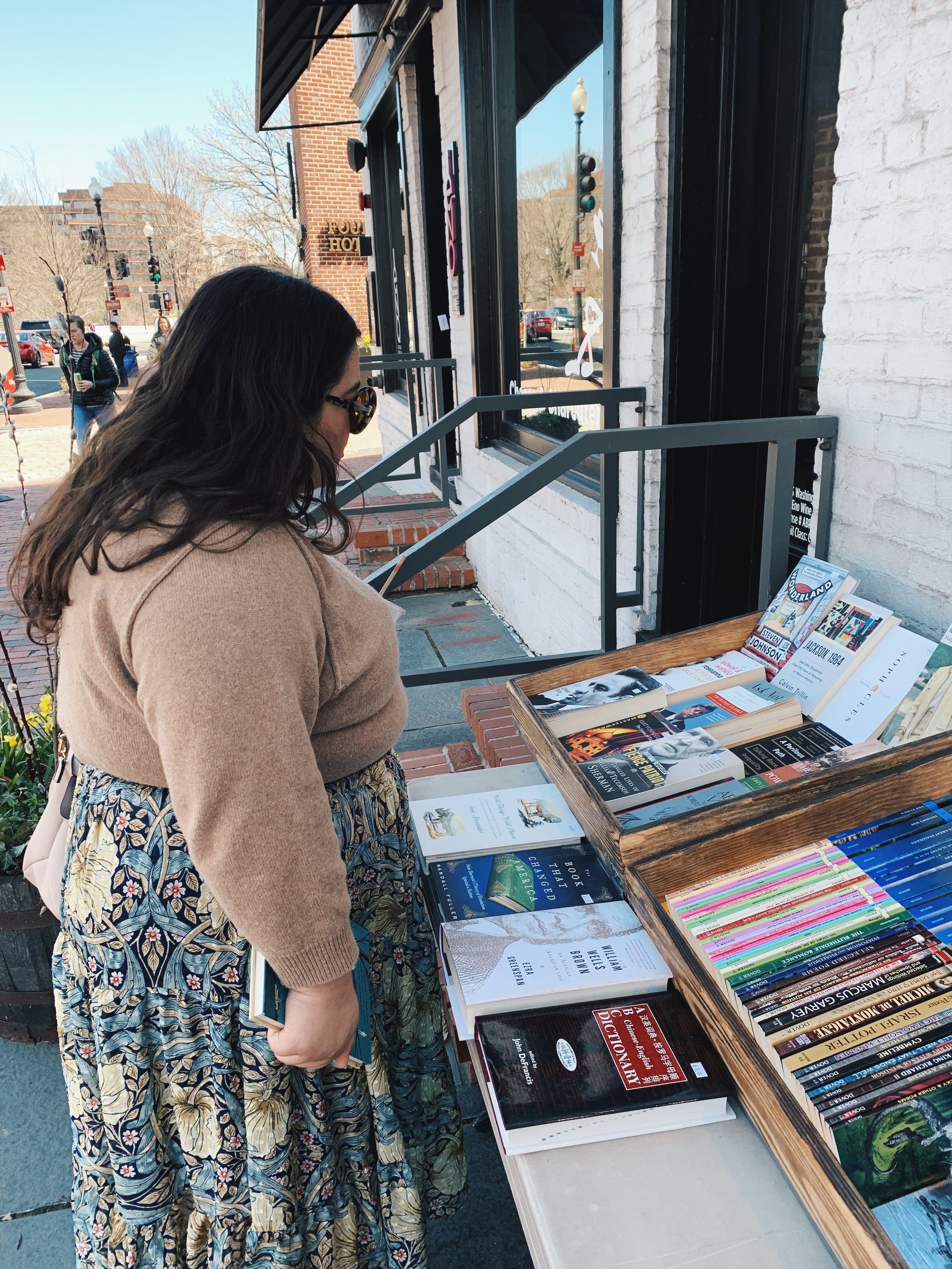 Photo featuring Raquel Reyes at Bridge Street Books from our    Washington bookshop guide    – taken by Olivia Gündüz-Willemin.
