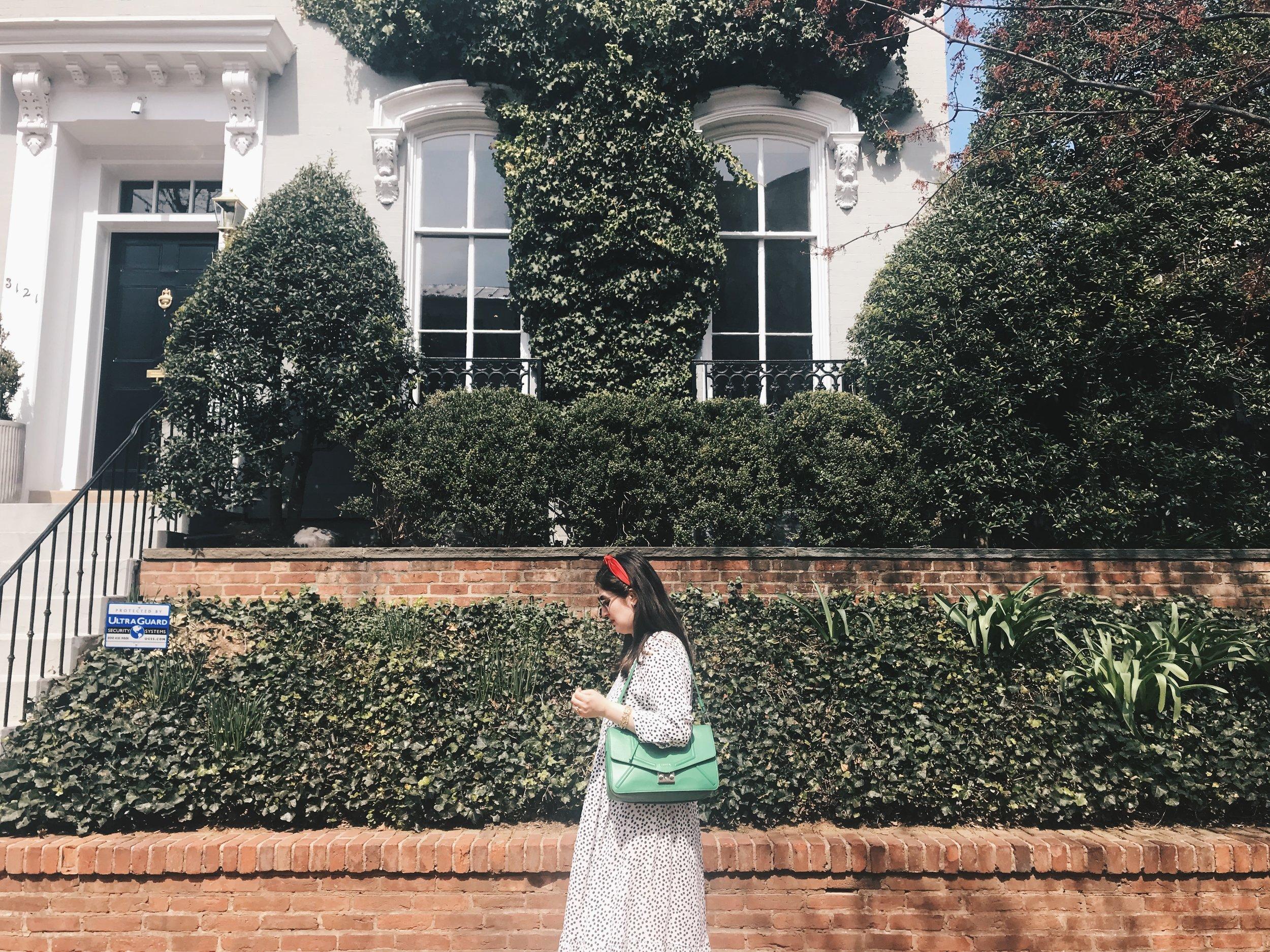 The Attic on Eighth Spring Fashion Olivia Gündüz-Willemin polka dot dress Georgetown 1.JPG