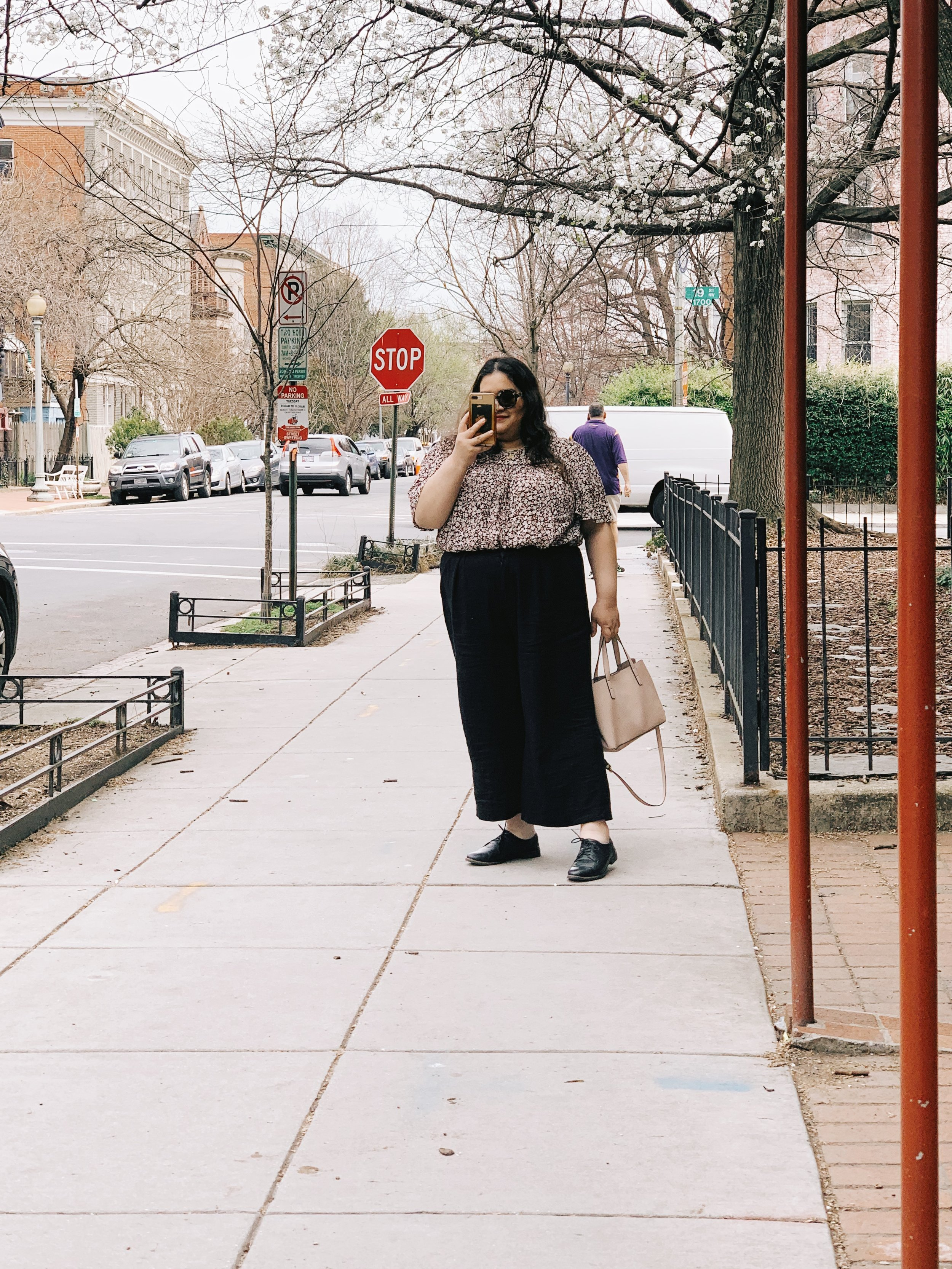 The Attic On Eighth Spring Fashion Dark Florals Killing Eve inspired feminine menswear Raquel Reyes 1.JPG