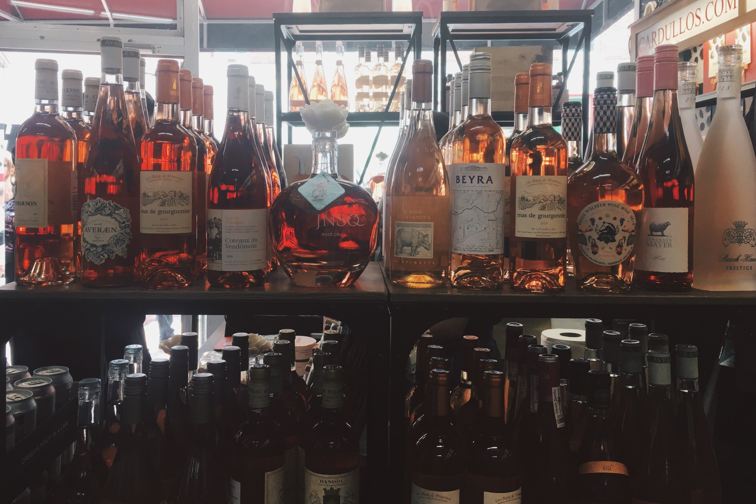 The expansive rosé selection at  Cardullo's Gourmet Shoppe  in Harvard Square is matched only by their multinational range of imported snacks.