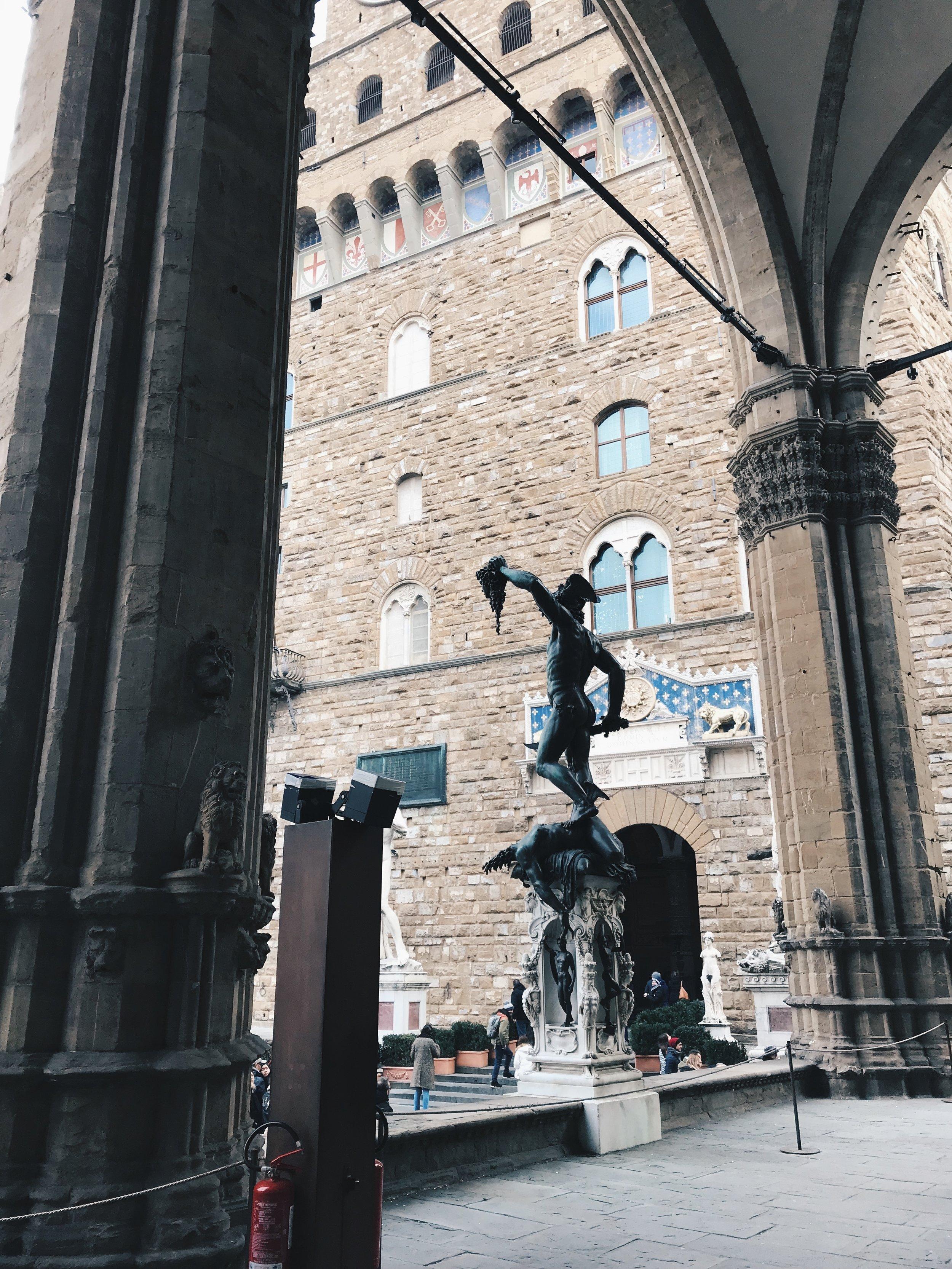 Piazza della Signoria, photographed by Kiely Schuck.