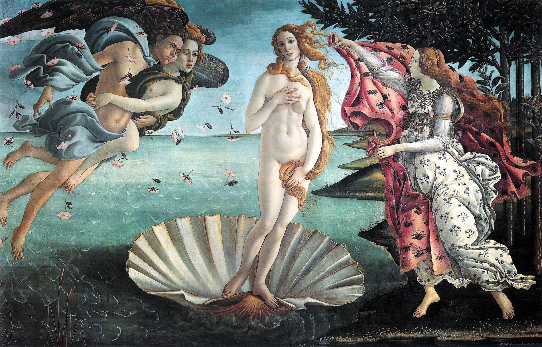 "Sandro Botticelli's ""The Birth of Venus,"" (1483-1485)."