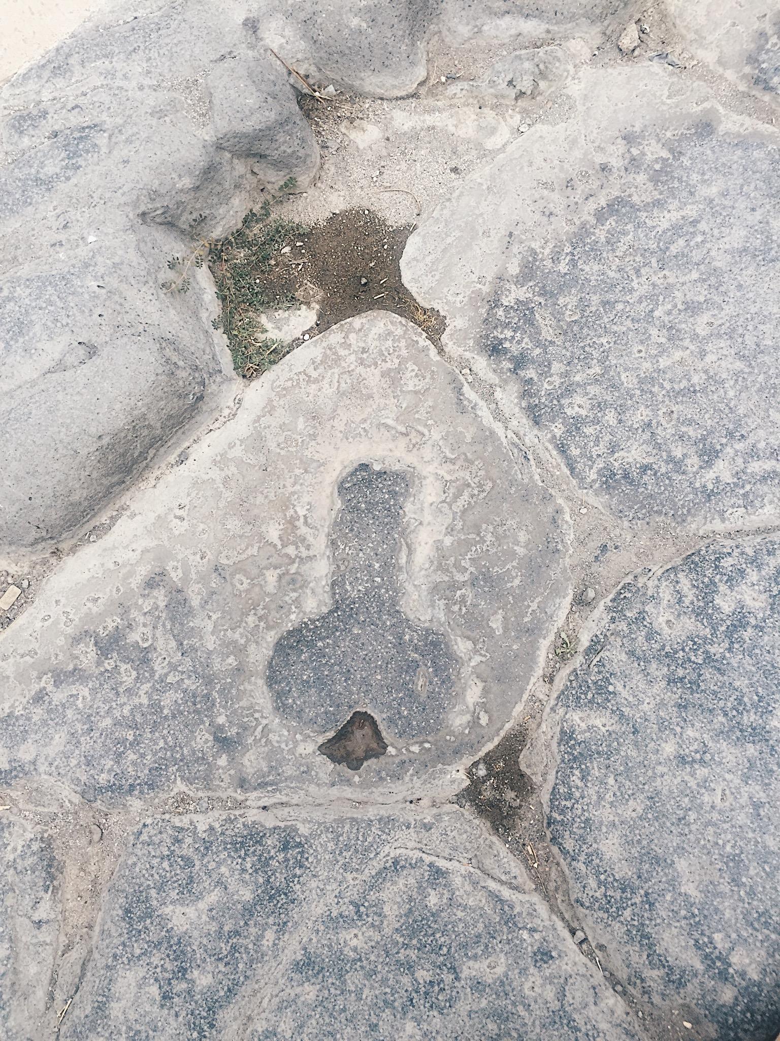 My Last Days of Pompeii Rory Mara The Attic on Eighth Phallus Stone.JPG