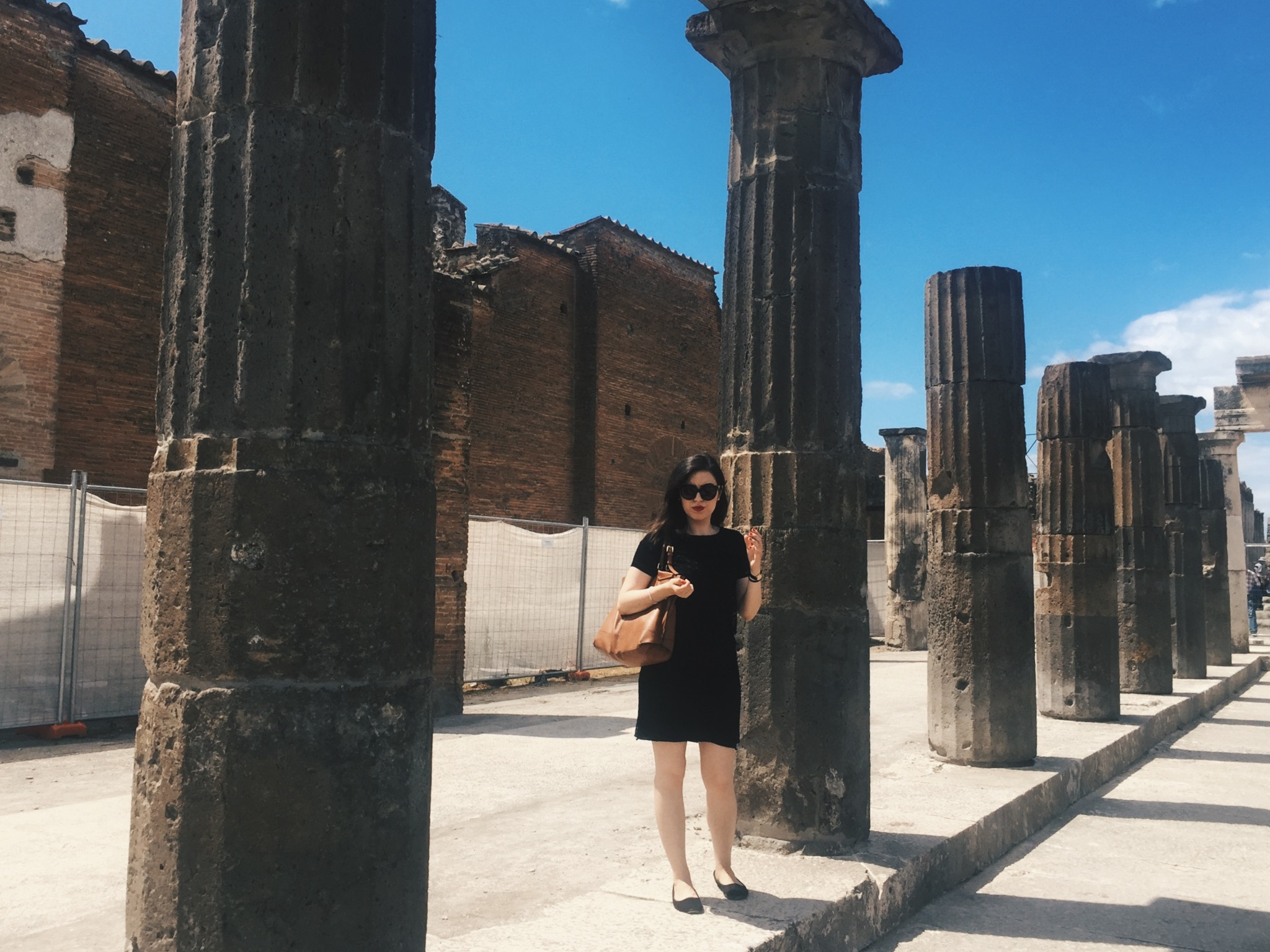 The author in Pompeii in 2017, before the Doric Columns.
