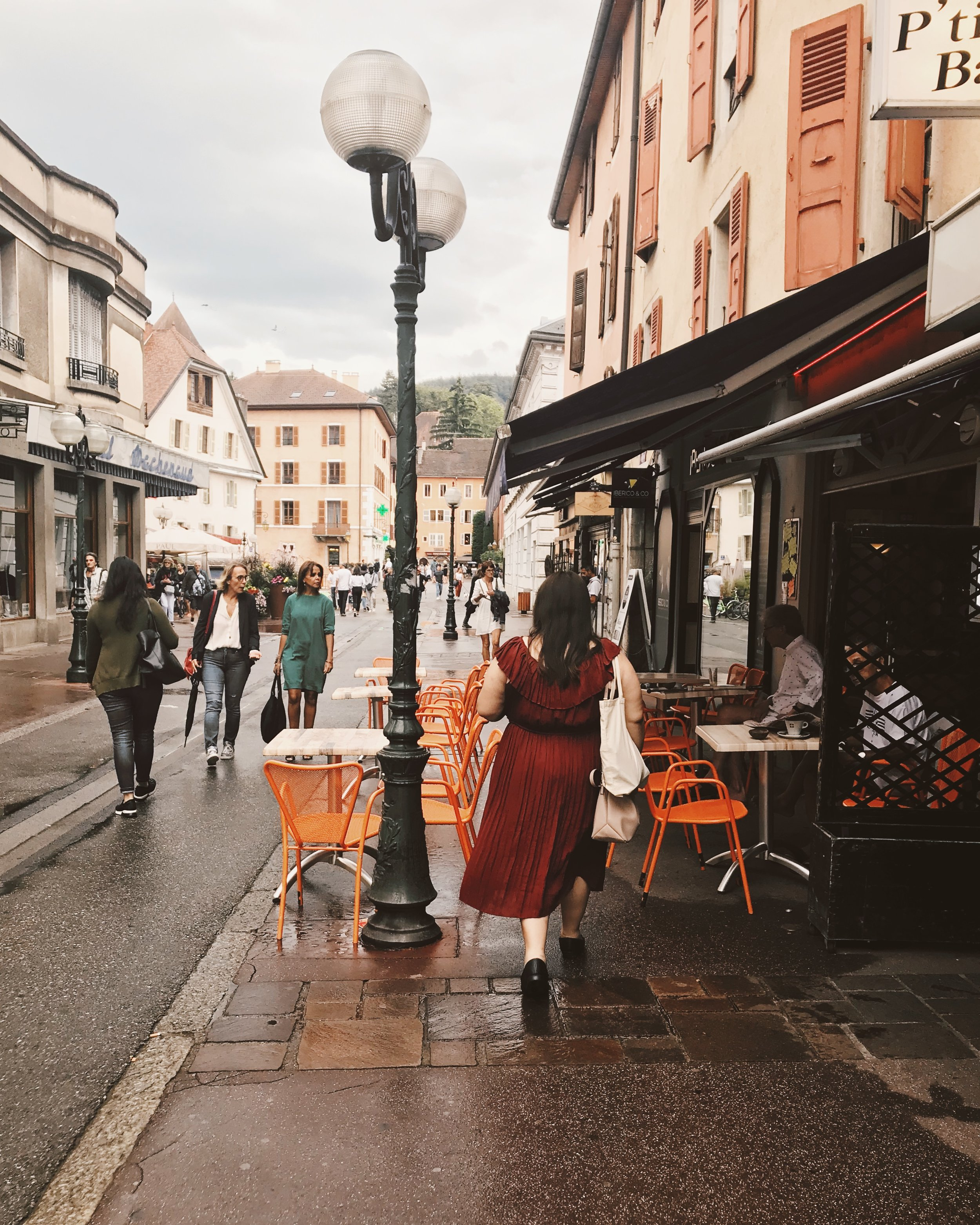 The writer, strolling through France last year. Photo by Olivia Gündüz-Willemin.