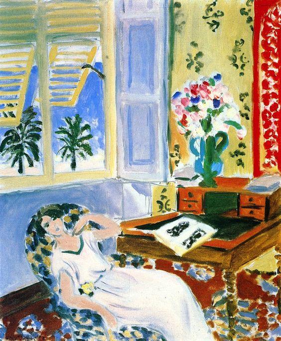"""Interior in Nice,"" Henri Matisse, 1922"