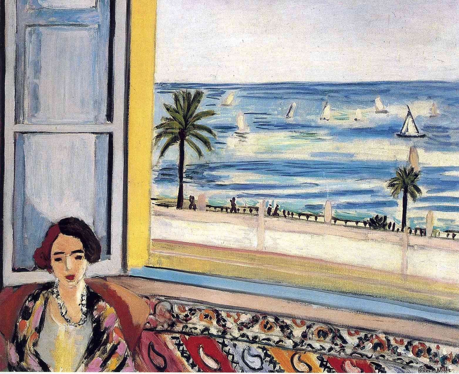 """Henri Matisse, """"Seated Woman, Back Turned to the Open Window"""" (1922)."""