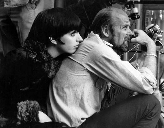Liza Minelli and Bob Fosse on the set of Cabaret.