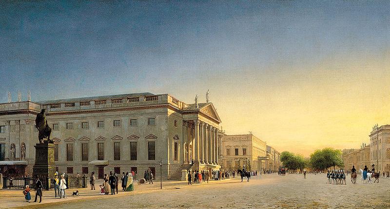 "Eduard Gaertner, ""Opernhaus Berlin,"" ca. 1825."